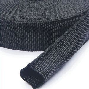 Polyester non-heat shrinkable weaving sleeving